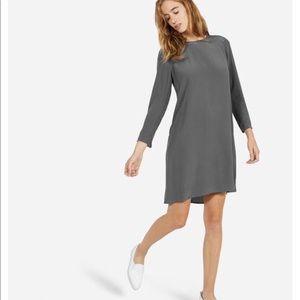 Everlane Silk Long Sleeve Dress